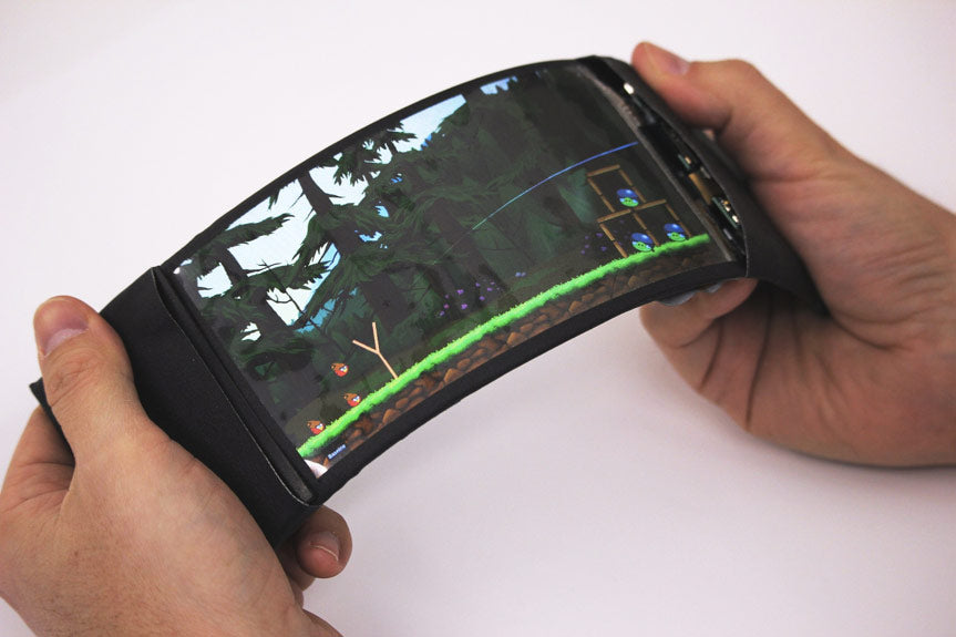 Prototype of a bendable smartphone