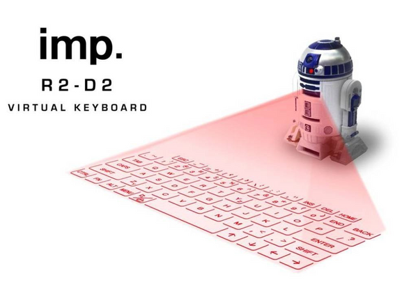 R2 D2 virtual keyboard - Projector touch screens are now a reality
