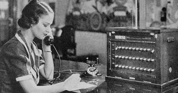 Telephone technology in 1920s