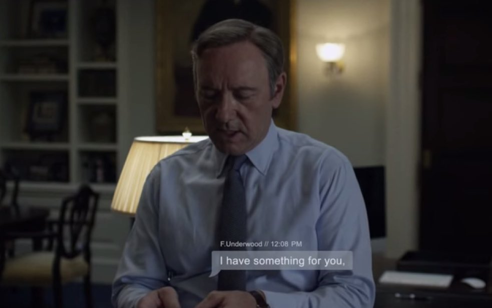 House of Cards text message treatment