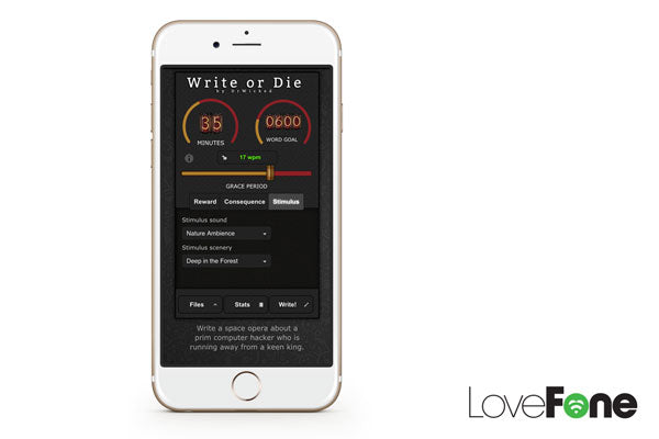 Write or Die - Top Apps for Productivity - Lovefone