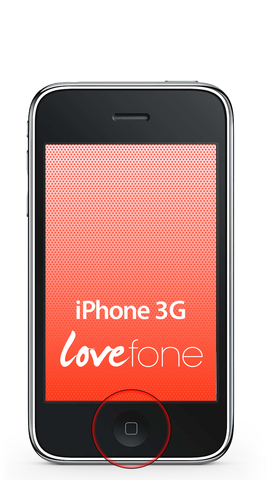 iPhone 3G home button replacement - Lovefone