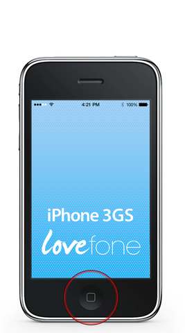 iPhone 3GS home button replacement - Lovefone