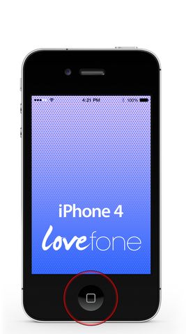 iPhone 4 home button replacement - Lovefone