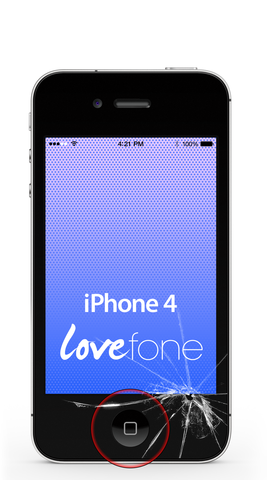 iPhone 4 screen and home button replacement - Lovefone