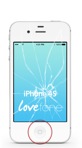 iPhone 4S screen and home button replacement - Lovefone