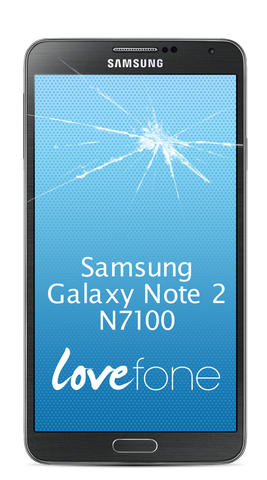 Samsung Galaxy Note 2 N7100 screen replacement - Lovefone
