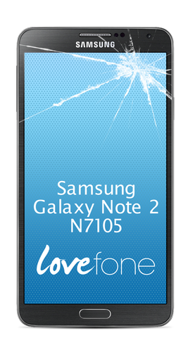 Samsung Galaxy Note 2 N7105 screen replacement - Lovefone