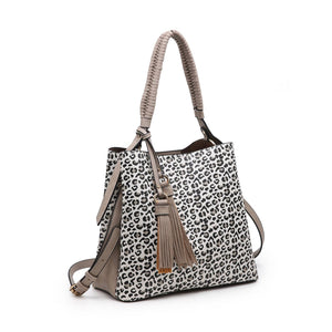 Animal Print Contrast Hobo