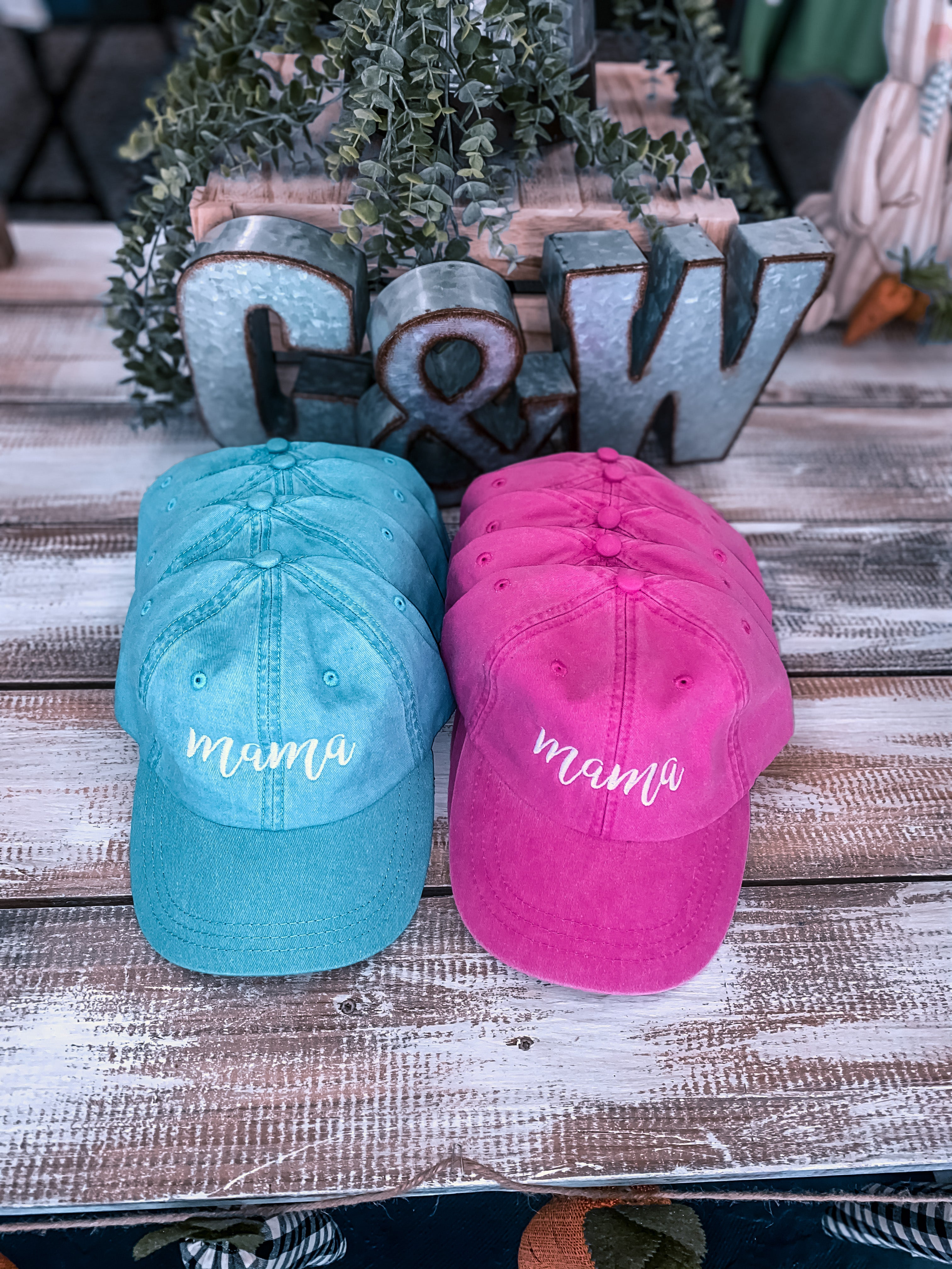 """Mama"" Embroidered Hats"