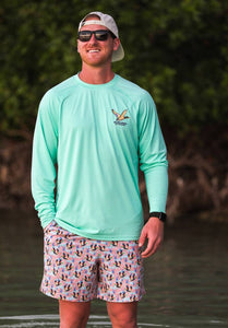 BURLEBO Outdoors Sun Tee - Island Reef