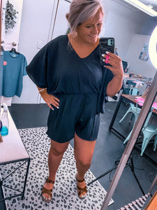 """Everything You Need"" Romper Black"