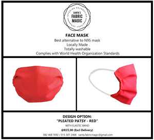 PLEATED PATSY FACE MASK