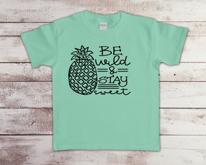 Be wild stay sweet YOUTH SIZE (Closing 4/4)