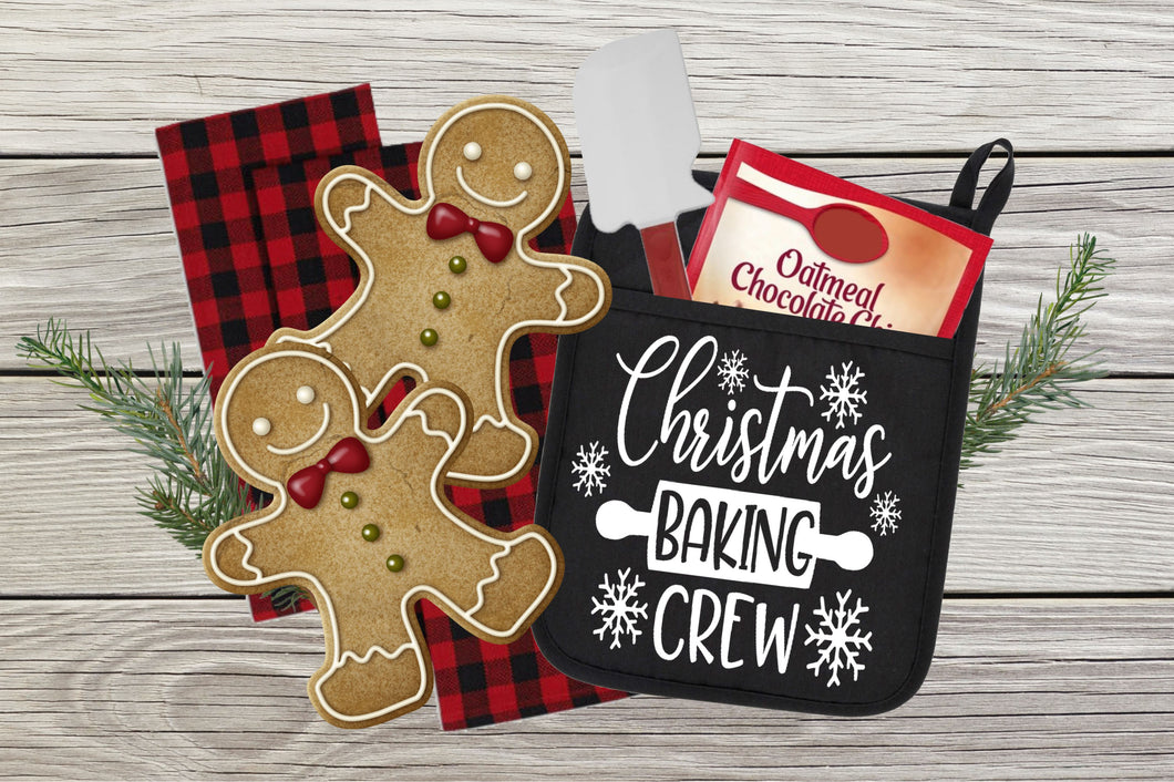 Christmas Baking Crew - Pot Holder or towel size
