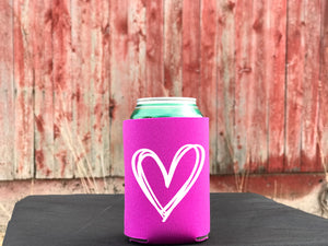 White Heart - Koozie or Pocket