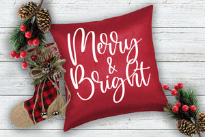 Merry and Bright - pillow size