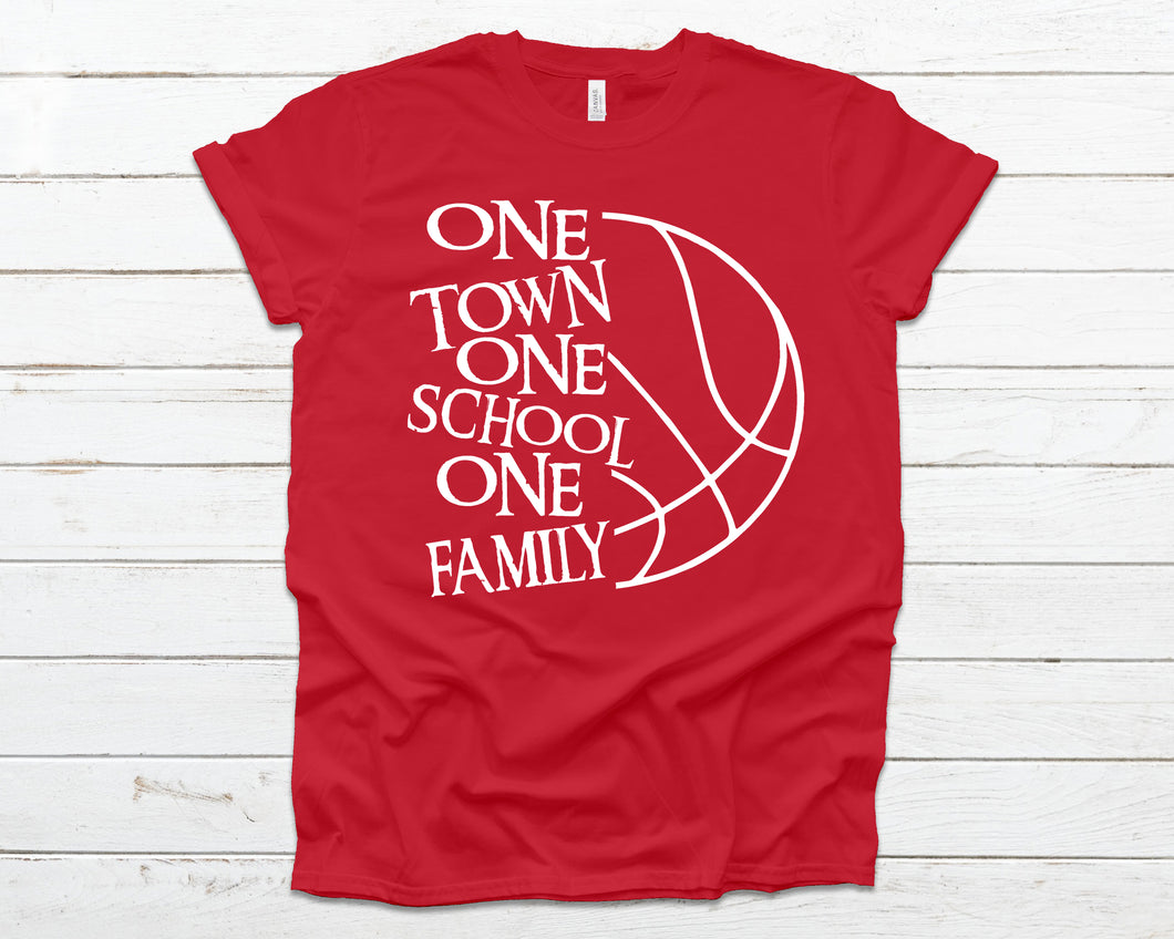 One town one school one family basketball