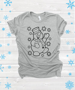 Snowman - Color in *Choose size from drop down menu*