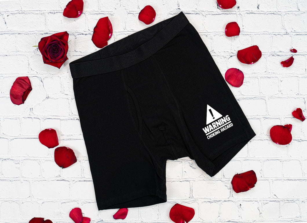 Warning choking hazard boxer brief Valentine
