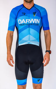 Mens Half Sleeve Darwin Tri Club Tri Suit - Revolution Clothing