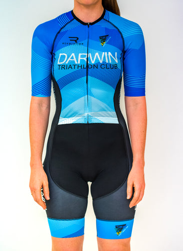 Womens Half Sleeve Darwin Tri Club Tri Suit - Revolution Clothing