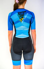 Load image into Gallery viewer, Womens Half Sleeve Darwin Tri Club Tri Suit - Revolution Clothing