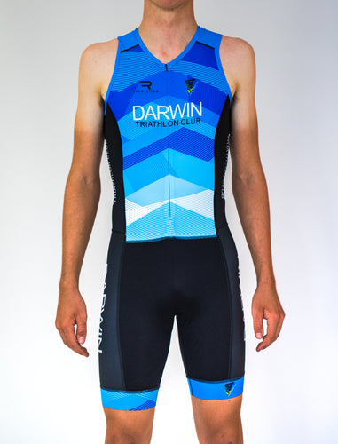 Mens Sleeveless Darwin Tri Club Tri Suit - Revolution Clothing
