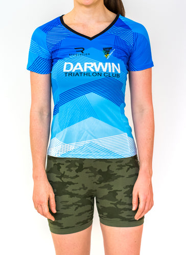 Womens Darwin Tri Club Running Shirt - Revolution Clothing