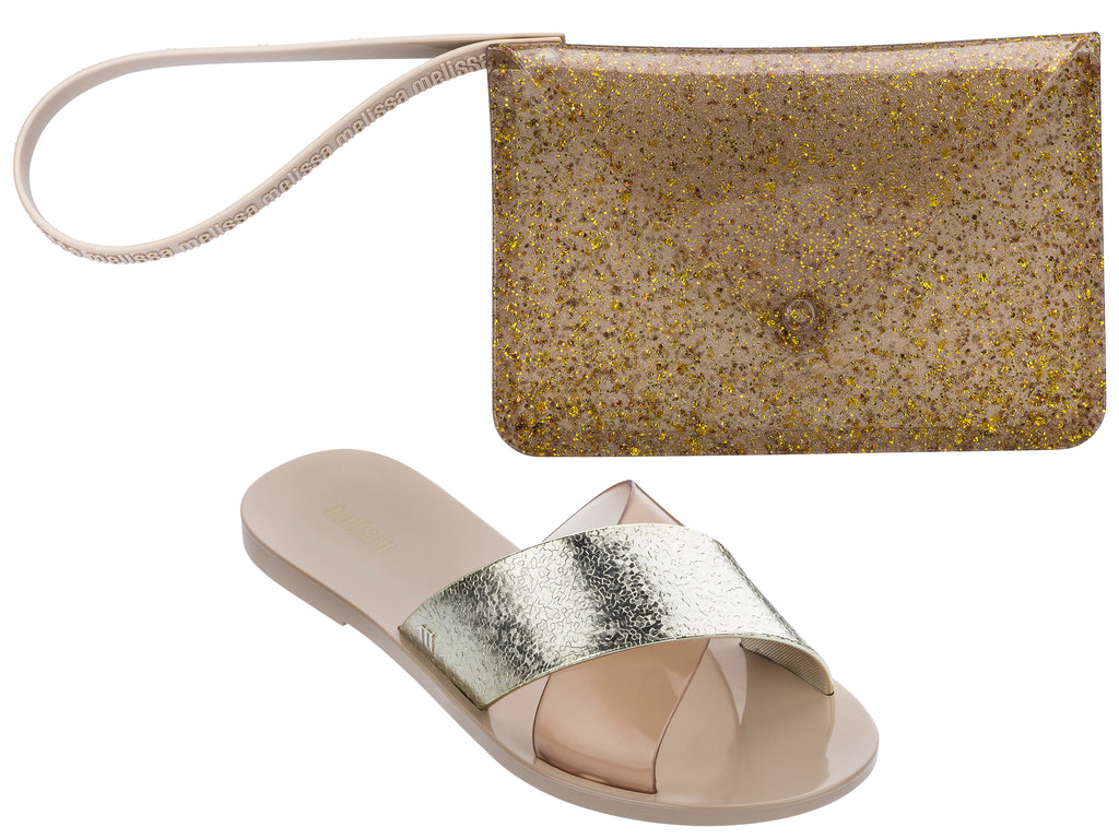 Melissa Good Times Ad BEIGE/GOLD
