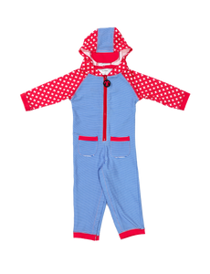 Lycrasuit Langarm Blue Stripe UV 50+