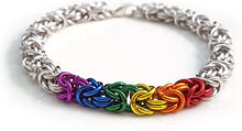 "Load image into Gallery viewer, ""CHAINMAILLE"" SILVER BRACELET"