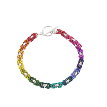 "Load image into Gallery viewer, ""CHAINMAILLE"" RAINBOW BRACELET"