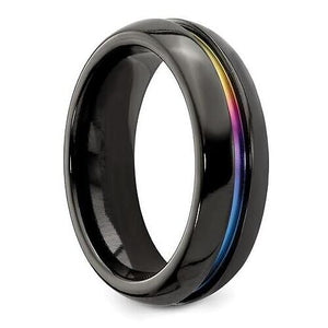 "BLACK ""RAINBOW RIVER"" RING"