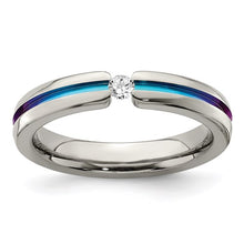 "Load image into Gallery viewer, ""SAPPHIRE BRIDGE"" RING"