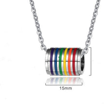 "Load image into Gallery viewer, ""TUNNEL"" PRIDE NECKLACE"