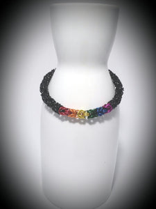 """CHAINMAILLE"" BLACK BRACELET"