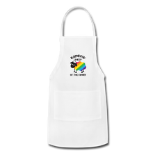 "Load image into Gallery viewer, ""RAINBOW SHEEP"" APRON - white"