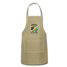 "Load image into Gallery viewer, ""RAINBOW SHEEP"" APRON - khaki"