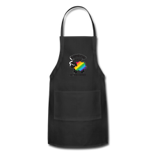 "Load image into Gallery viewer, ""RAINBOW SHEEP"" APRON - black"