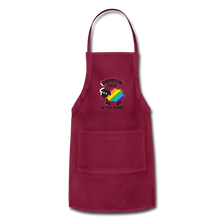 "Load image into Gallery viewer, ""RAINBOW SHEEP"" APRON - burgundy"