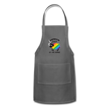 "Load image into Gallery viewer, ""RAINBOW SHEEP"" APRON - charcoal"