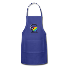 "Load image into Gallery viewer, ""RAINBOW SHEEP"" APRON - royal blue"