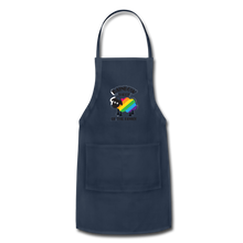"Load image into Gallery viewer, ""RAINBOW SHEEP"" APRON - navy"