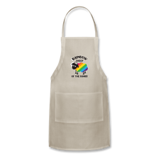 "Load image into Gallery viewer, ""RAINBOW SHEEP"" APRON - natural"