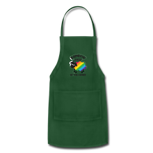 "Load image into Gallery viewer, ""RAINBOW SHEEP"" APRON - forest green"