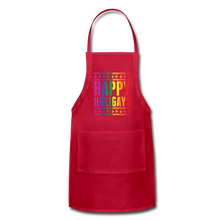 "Load image into Gallery viewer, ""HAPPY HOLIGAYS"" APRON - red"