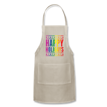 "Load image into Gallery viewer, ""HAPPY HOLIGAYS"" APRON - natural"