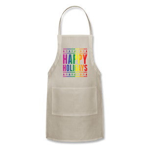 """HAPPY HOLIGAYS"" APRON - natural"