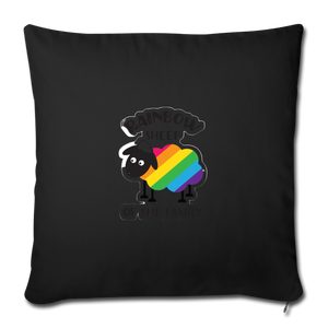 """RAINBOW SHEEP?!"" PILLOW COVER - black"